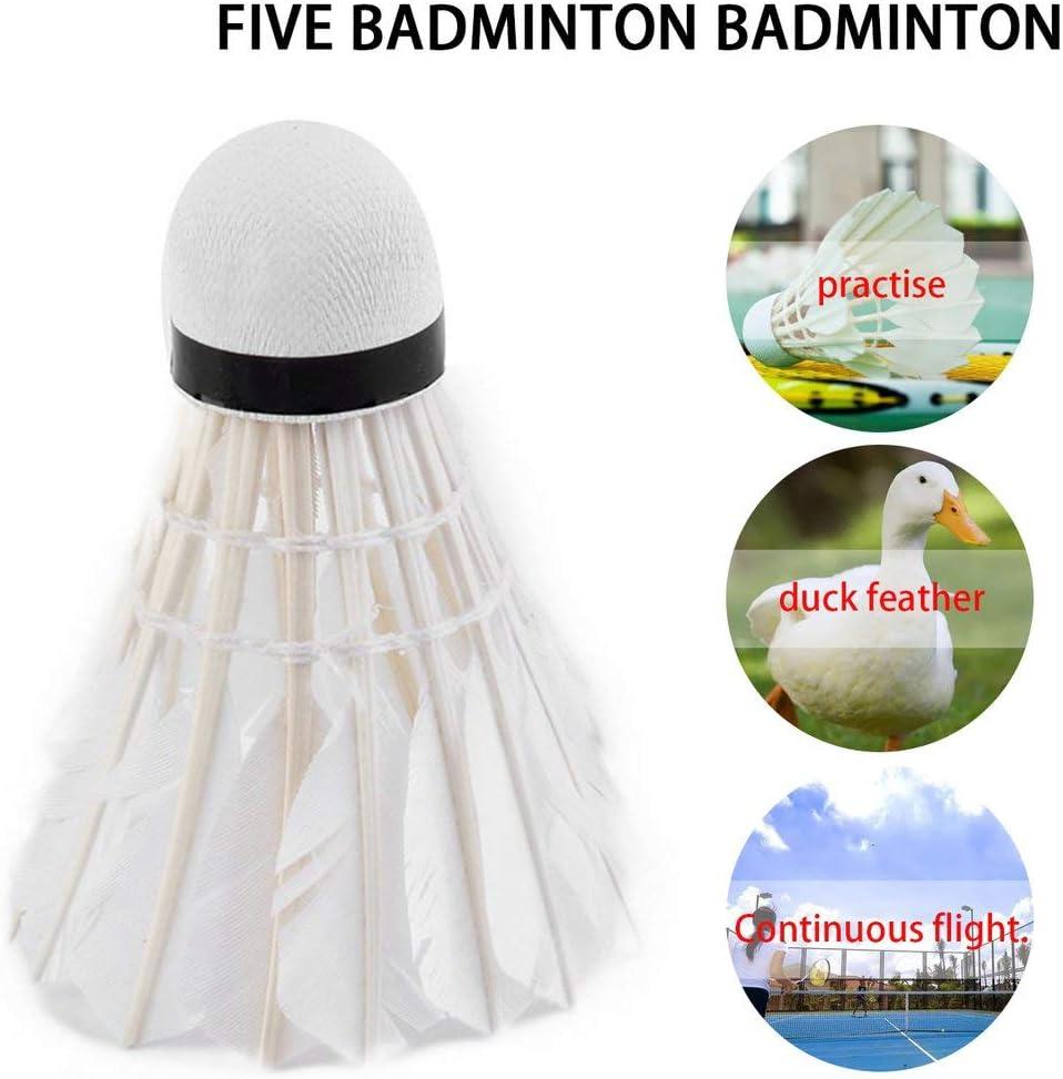 Vinkent 5pcs Gans-Feder Shuttlecock Vogel Wei/ß Badminton Ballsport Sport Sporttraining Hot Promotion