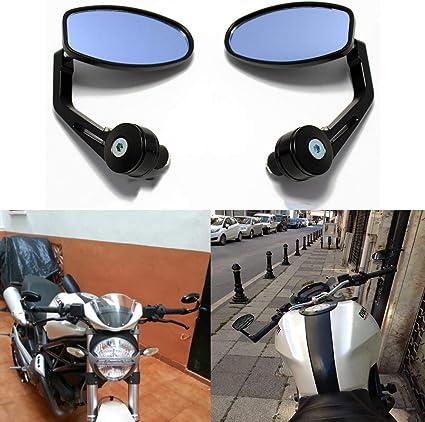 Colore : Verde NO LOGO WSF-Review Mirrors 2pcs Universale del Motociclo Specchio retrovisore Laterale Moto Specchi CNC Aluninum for Yamaha Vmax1200 mt 03 YBR125 Tmax Tmax 530 nmax 125