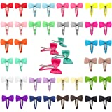 Ruyaa Hair Bow Fully Wapped Snap Clip for Baby Girl Toddler Pigtail Kid Hair Accessories Grosgrain Ribbon Boutique…