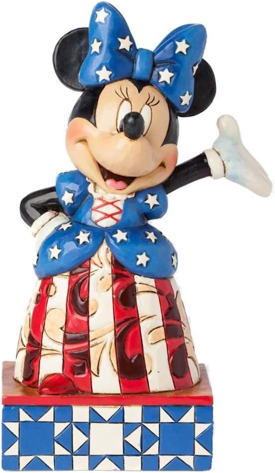 Jim Shore Disney Traditions patrios Minnie Mouse en yanqui