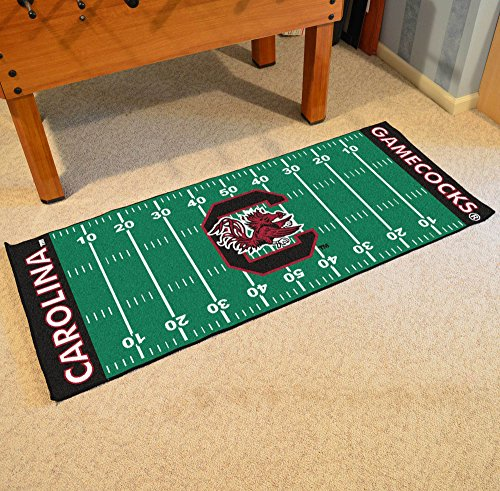 - FANMATS 7560 NCAA University of South Carolina Gamecocks Nylon Face Football Field Runner ,Team Color