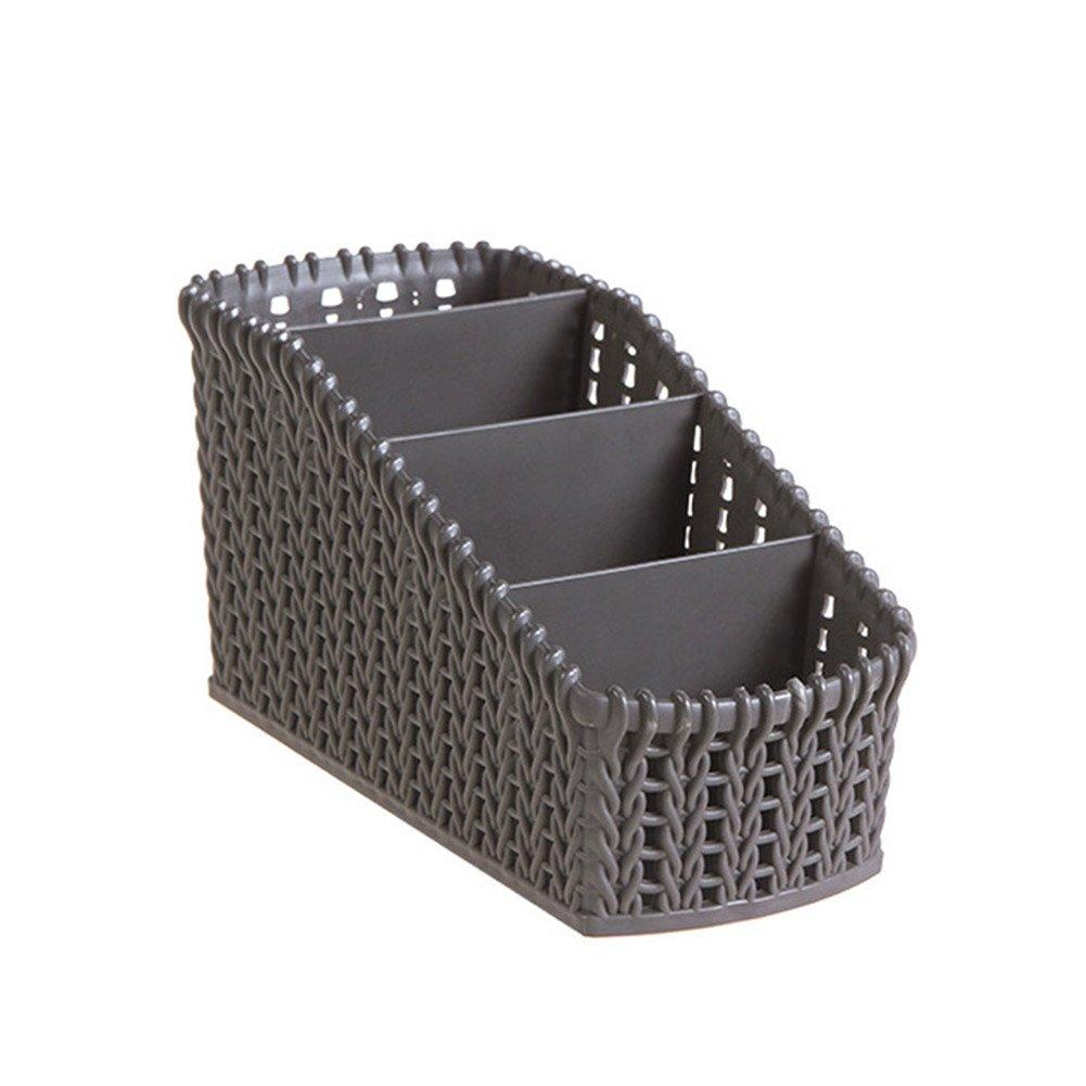 PerGrate Compartiment multi de bureau de rotin dimitation de cas de bo/îte de stockage pour la t/él/écommande cosm/étique