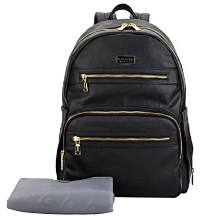 Amazon.com : Lekebaby Diaper Bag Backpack with Stroller Straps Waterproof and Scratch-resistant Treatment, Black : Baby