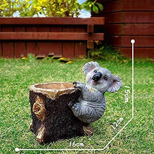 ホームガーデン装飾コアラ床フラワーポット防水樹脂庭の庭の風景芝生の庭の装飾品工芸品庭動物彫刻2