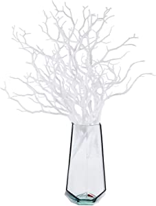 Chuangdi 8 Pieces Artificial Plastic Stems Artificial Dry Plant Tree Branch Twigs Dried Tree Branches Plastic Stems Decorations for Wedding Party Various Festivals Home Hotel Decoration