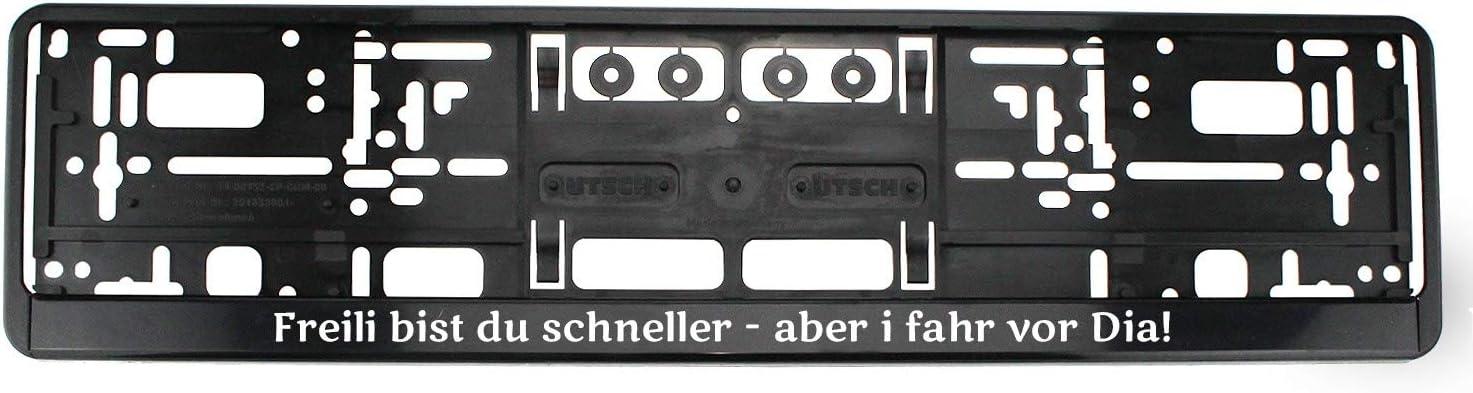 Bavariashop Kennzeichenhalter Freili Bist Du Schneller Nummernschildhalter Mit Spruch In Bayerischer Mundart Auto