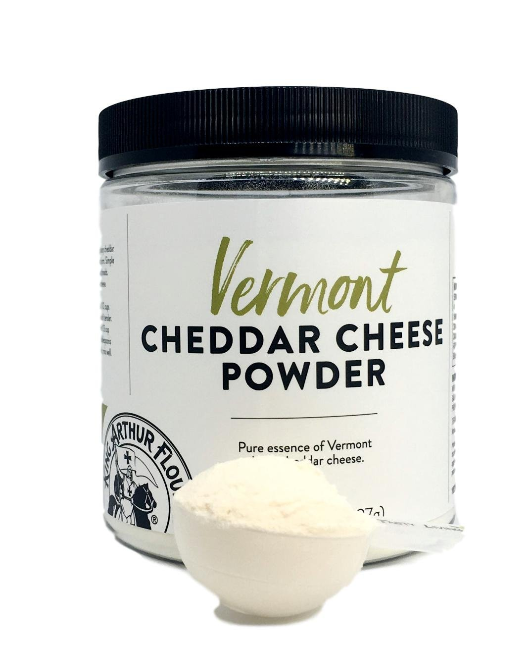 King Arthur Flour Vermont Cheddar Cheese Powder – 8 OZ (227g) With Measuring Scoop Included