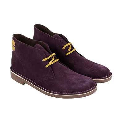 a21b68712cfeb CLARKS Bushacre Ca Mens Purple Suede Casual Dress Lace Up Chukkas Shoes 7