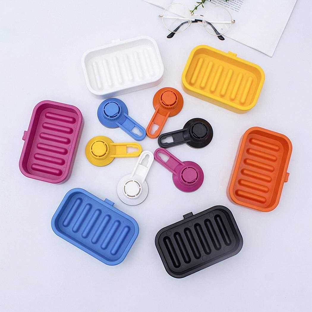 per Organizzare Saponette e Spugne in Bagno,Cucina e lavandino Premewish Sistema di Vuoto Porta Sapone Portasapone con Ventosa Removibile