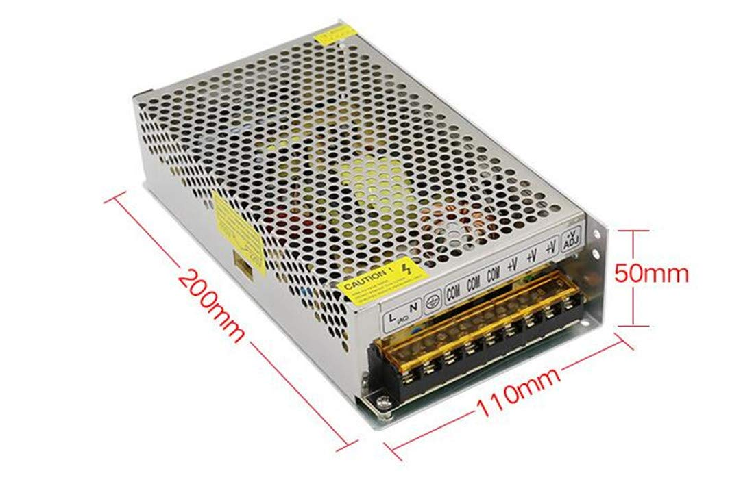 Computer Project,Video Surveillance,Probe Signal Lamp 12V 5A DC Universal Regulated Switching Power Supply,AC100V to DC12V 60W Transformers for LED Strip Light,Radio