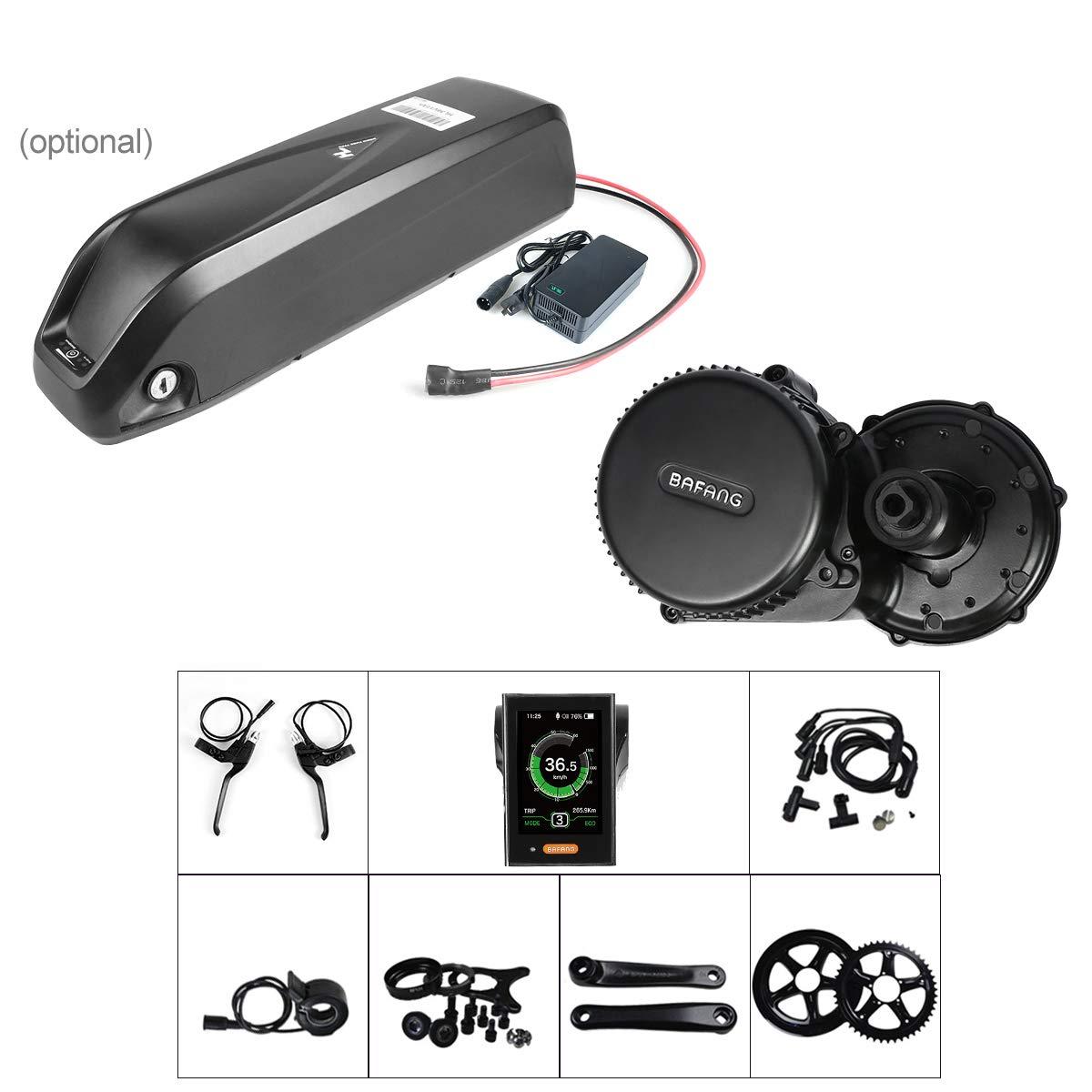 Bafang BBS02B 48V 750W LCDディスプレイ8fun / Bafangミッドドライブ電動バイク変換キットバッテリー付きEbikeモーター B07D5DV4C6 750Wモーター+ 52Tチェーンリング+バッテリー|850Cディスプレイ 850Cディスプレイ 750Wモーター+ 52Tチェーンリング+バッテリー