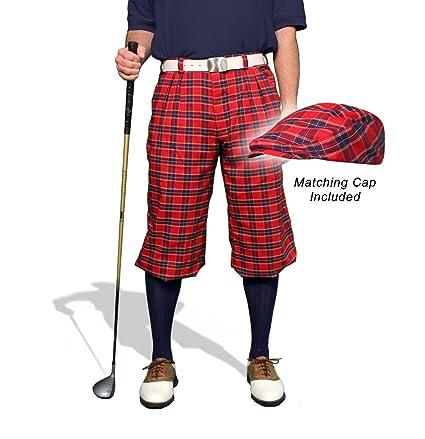 9171714acef Amazon.com   Golf Knickers Plaid and Cap  Mens  Par 5  - Newcastle ...