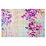DiaNoche Woven Area Rugs, Kitchen Mats, Bath Mats by Julia Di Sano Dance of the Sakura Large 4x6 Ft