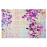 DiaNoche Woven Area Rugs, Kitchen Mats, Bath Mats by Julia Di Sano Dance of the Sakura Small 2x3 Ft