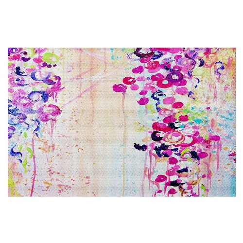 DiaNoche Woven Area Rugs, Kitchen Mats, Bath Mats by Julia Di Sano Dance of the Sakura Large 4x6 Ft by DiaNoche Designs