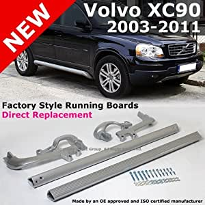 2003 to 2012 Volvo Xc90 Aluminum Sport Running Board Side Step Bars Left and Right