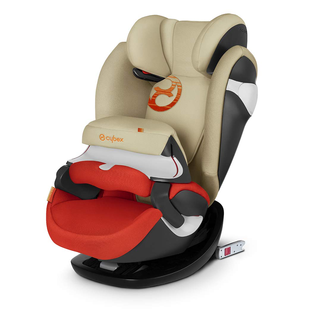 CYBEX Gold Pallas M-Fix 2-in-1 Child's Car Seat, For Cars with and without ISOFIX, Group 1/2/3 (9-36 kg), From approx. 9 Months to approx. 12 Years, Autumn Gold