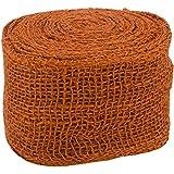 Kel-Toy Jute Burlap Ribbon Roll, 4-Inch by 10-Yard, Burnt Orange