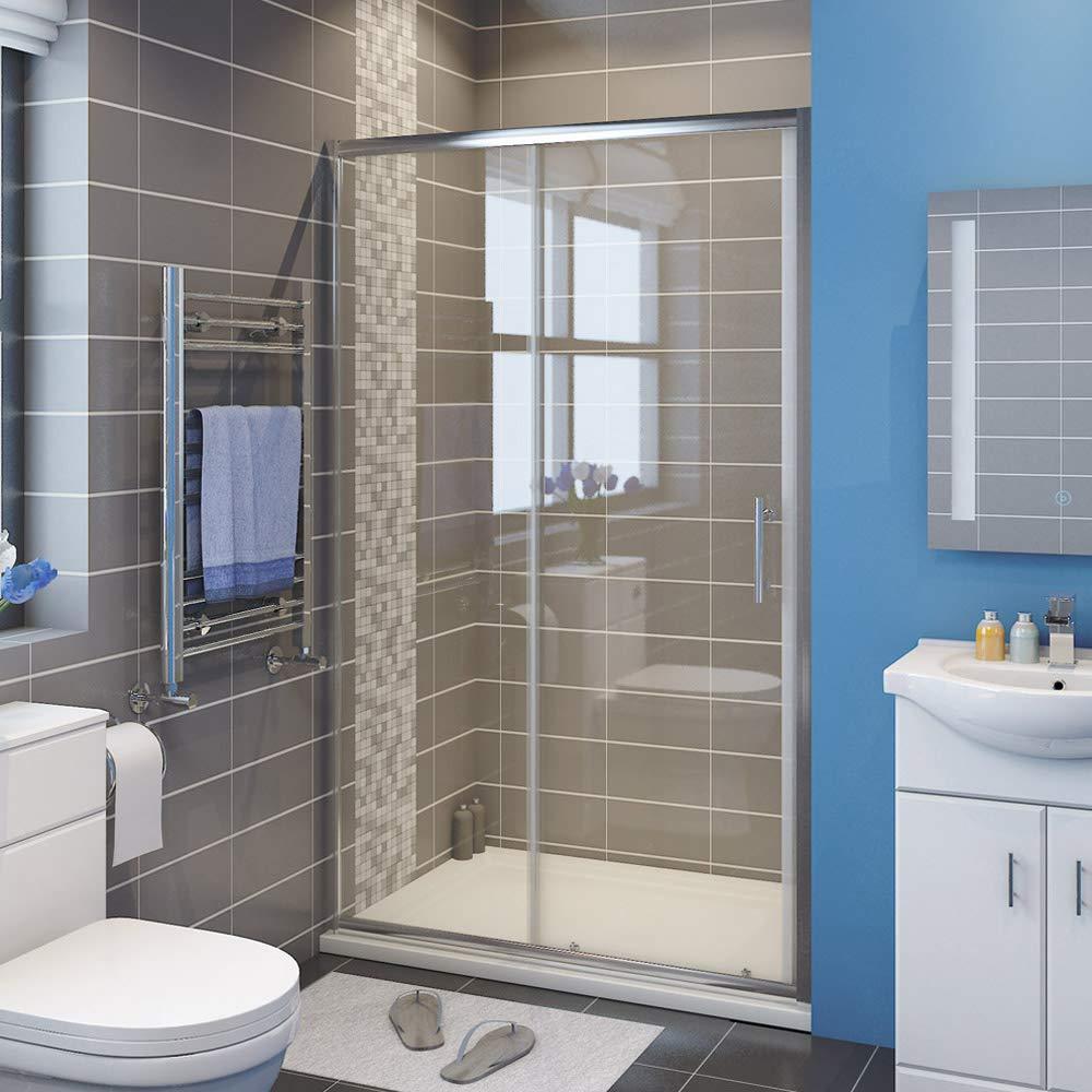 170x185cm SIRHONA Porte de douche coulissante paroi de douche pare-douche verre de s/écurit/é