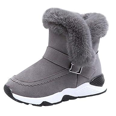 ZODOF Botas de Nieve niña Niños Bebé Infantil Niños Niñas Niño Piel Rebaño Invierno Botín Zapatos de Nieve cálida Botas: Amazon.es: Ropa y accesorios