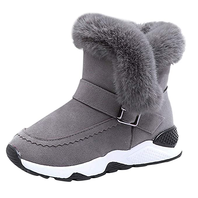❤ Botas de Nieve para niños de Peluche, Niños Bebé Infantil Niños Niñas Niño Piel Rebaño Botas de Invierno Zapatos de Nieve cálida Botas Absolute: ...