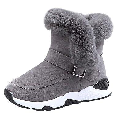 sale retailer 7cdde d658b Unisex Kinder Warm Gefütterte Stiefel Schneestiefel Zhen+ Jungen Mädchen  PU-Leder Winterstiefel mit Warmfutter Freestyle Schuhe Winter Warme Schuhe  ...