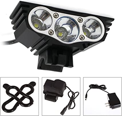 12000LM Mountain Bike LED Waterproof USB Rechargeable Headlight Tail Light Set X