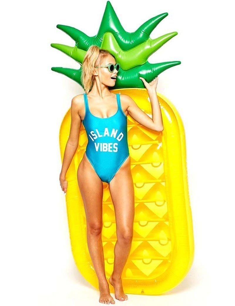 Amazon.com: yhsatpow gigante hinchable piña Raft Fruit ...