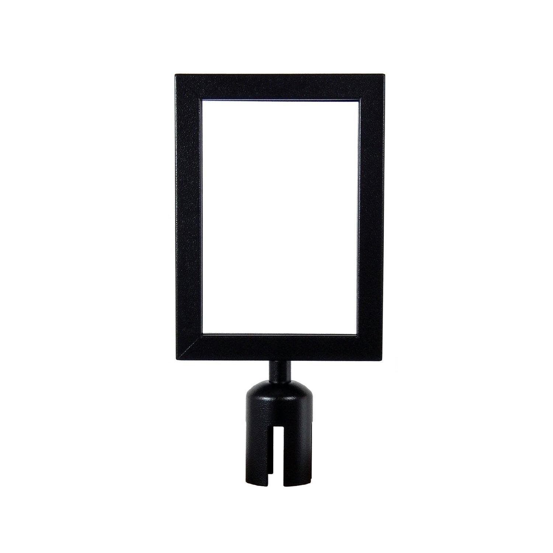Apex Retractable Belt VIP Sign Frame 8 X 11 Landscape in Black SIGN-FRAME-8X11-BLACK