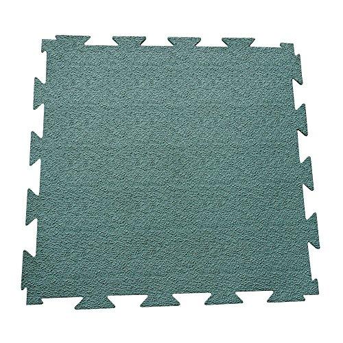 Rubber-Cal Terra-Flex Interlocking Flooring Rubber Tiles (5-Pack), Green, 1/4 x 24 x 24-Inch