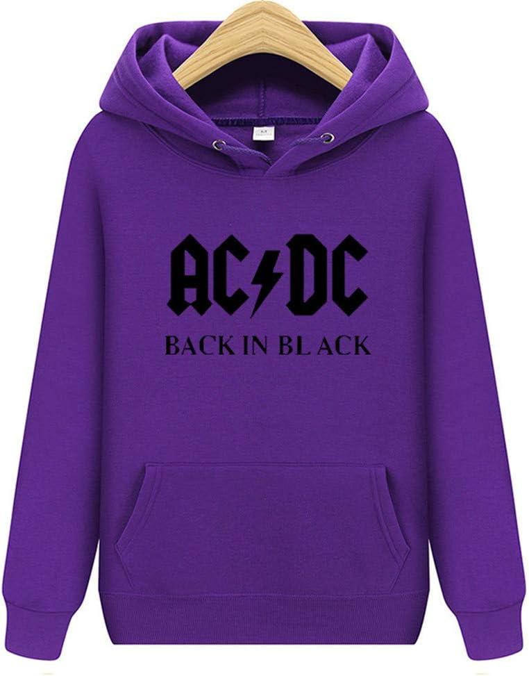 YXCL M/änner Hoodie ACDC Hip Hop Rock Band Sweatshirts M/änner Frauen Casual Streetwear Kapuzenjacken