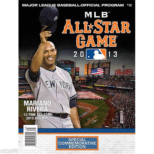 MARIANO RIVERA NY YANKEES METS CITIFIELD ALL STAR GAME MVP OFFICIAL MLB PROGRAM by otto99