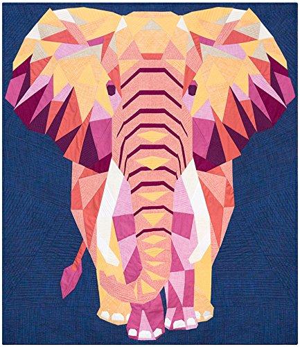 Violet Craft Elephant Abstractions Quilt Kit Robert Kaufman Fabrics (Violet Quilt Fabric)