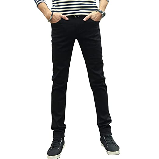 f4fd1585fe Phillip Dudley Men Jeans Pencil Pants Stretch Casual Slim Leg Skinny Boys Male  Yong Man Denim Trousers Solid at Amazon Men s Clothing store