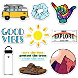 Cute Vinyl Laptop and Water Bottle Decal Sticker Pack, Made in US Good Vibes