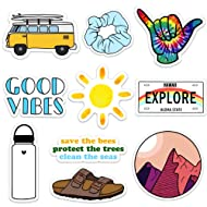 Cute Nature VSCO Girl Stickers for Water Bottles and Laptops, Made in US (Good Vibes)