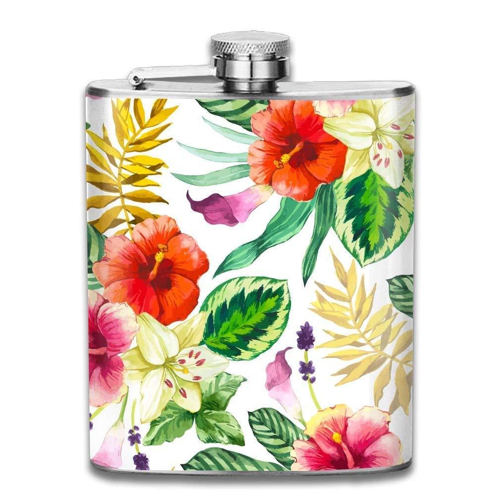 Bouquet of Petunias ファッション ポータブル ステンレススチール ヒップフラスコ ウィスキーボトル 男女兼用 7オンス   B07KK8N4D8