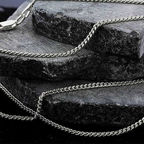 14k White Gold 2mm Solid Miami Cuban Curb Link Thick Necklace Chain 16'' - 30'' (24) by In Style Designz (Image #3)