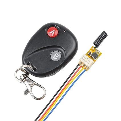 Amazon com: 12V Remote Control Relay Switch Secure Wireless