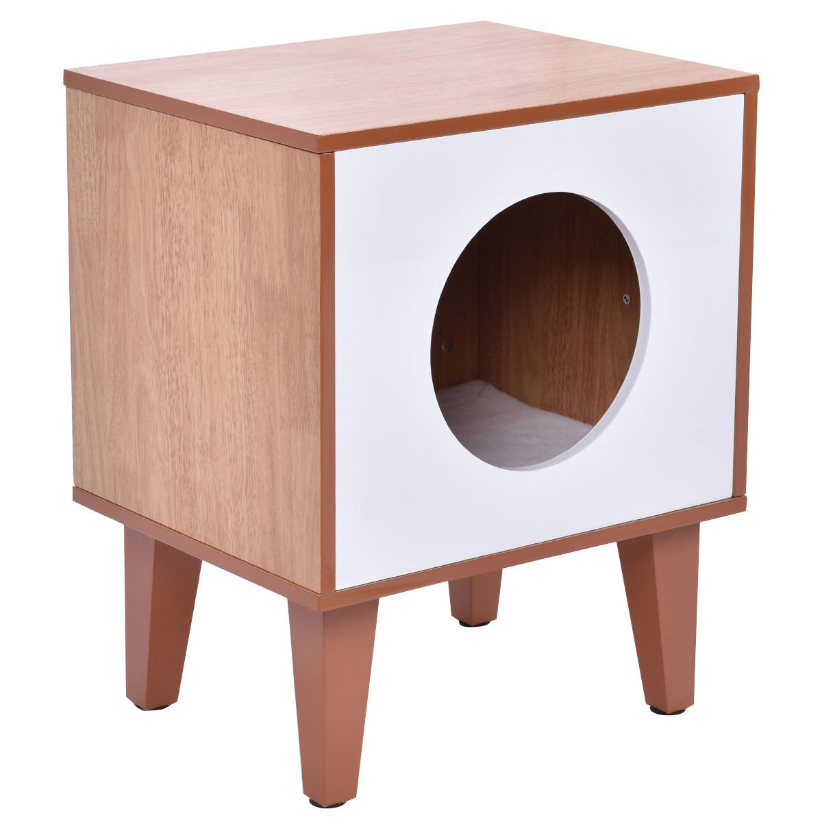 New Cat Box Cushion Bed Cleaning Enclosure Hidden Pet Cabinet Furniture Wood by totoshoppet (Image #8)