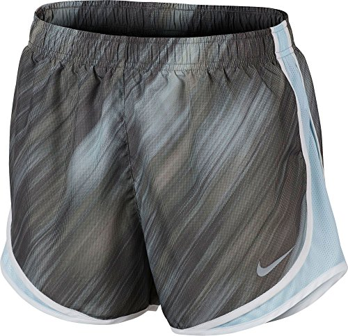Damen Nike Dry Tempo Running Short Staub / Gletscherblau / Weiß