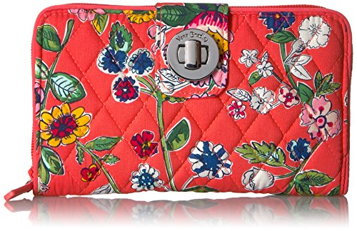 Vera Bradley Women's RFID Turnlock Wallet-Signature, Coral Floral, One Size by Vera Bradley (Image #1)
