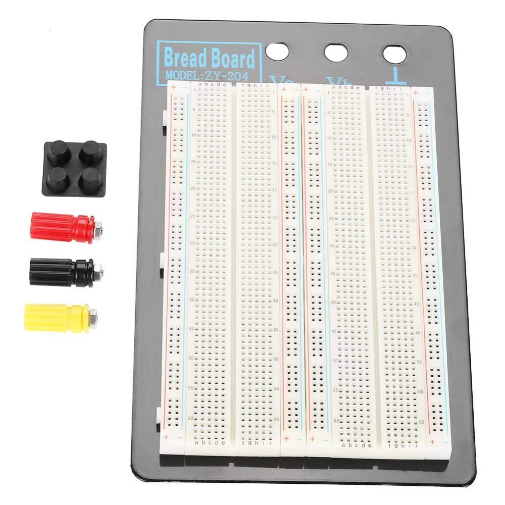 Experiment L/ötfreies Breadboard 1660 Punkte L/öcher Plug-In-Breadboard Testbed Free L/ötschaltkreistest
