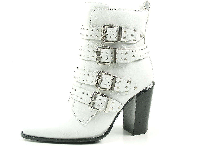 Bronx Bamericanax 33968-F-04 Schuhe Damen Ankle Stiefel Biker Stiefeletten  | Offizielle