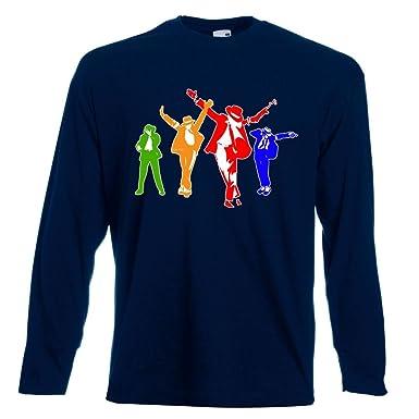 Divertido Para Hombre Camisetas Impresas - Michael Jackson Coloured Silhoutte Tees Tshirt - Regalo de Cumplea Os Pap - Manga Larga: Amazon.es: Ropa y ...