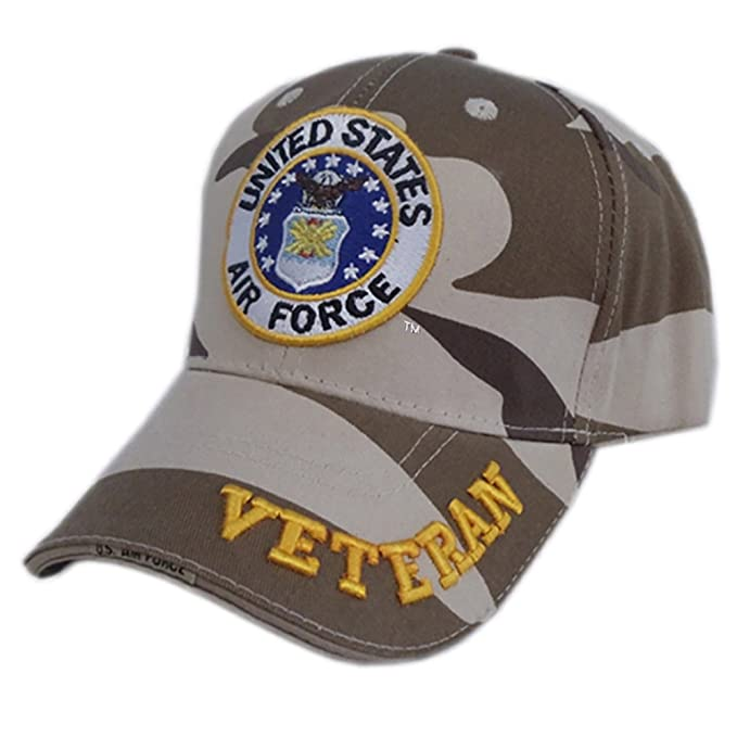 40898eee6740a Image Unavailable. Image not available for. Color  US HONOR TM Officially  Licensed Embroidered Veteran Camo Air Force Baseball Caps Hats