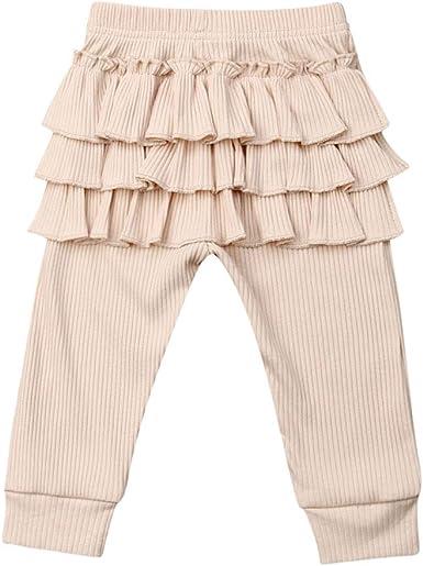 jsadfojas Mallas de algodón Suave con Volantes para niñas pequeñas ...