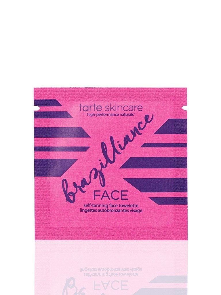 tarte Brazilliance Skin Rejuvenating Maracuja Self Tanning Face Towelettes set of 10