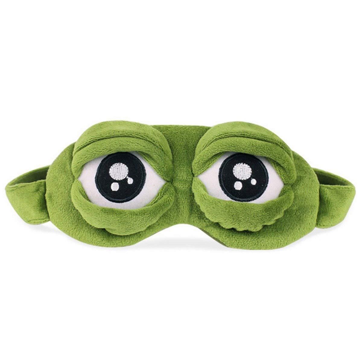 Diseño de rana de pelusas - Máscara para dormir Funny Cartoon Antifaz para dormir antifaz para dormir con bolsa de hielo para sleeping-frog ojos: Amazon.es: ...