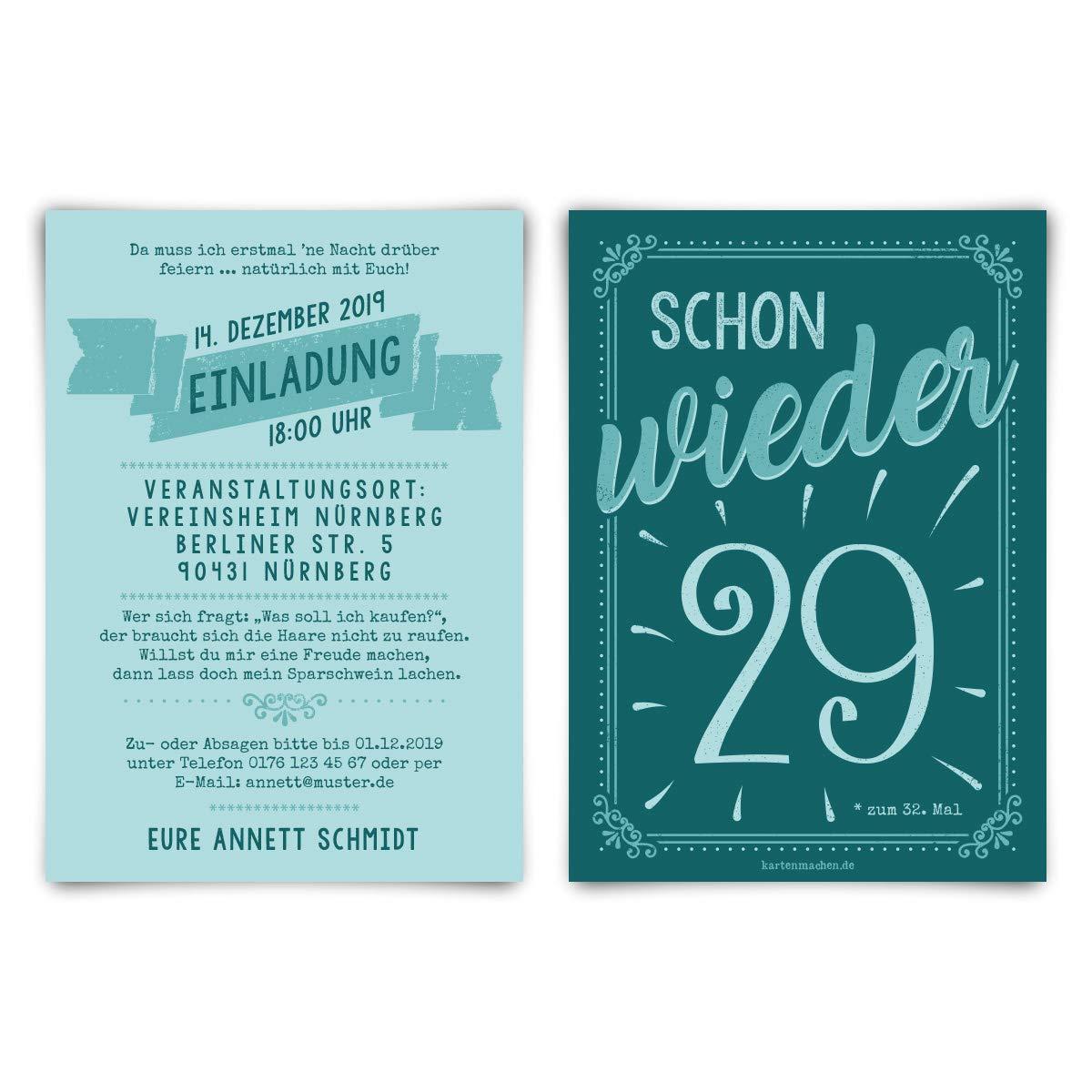 60 x Runder 50. Geburtstag individuelle Einladungskarten Einladungen - schon wieder 29 B07Q75DHKW   Bestellungen Sind Willkommen    Shopping Online    Ausgezeichnetes Handwerk